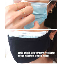 Load image into Gallery viewer, 1 Disposal + 1 Cotton Mask Double Layer Reusable Washable Unisex Soft Black + free ZipBag
