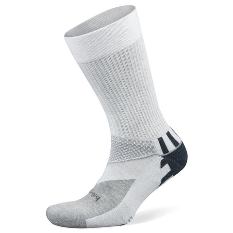Balega Enduro V-Tech Crew Socks, White (Medium)