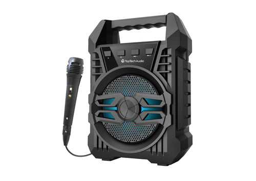 700 Watts 4 Inch Portable Party Speaker With Karaoke Microphone Bluetooth Connectivity - Pickhud