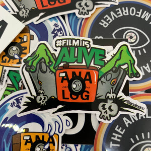 film is alive analog sticker
