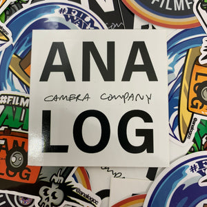 analog camera company white logo