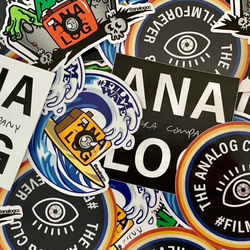 analog camera company sticker pack merch