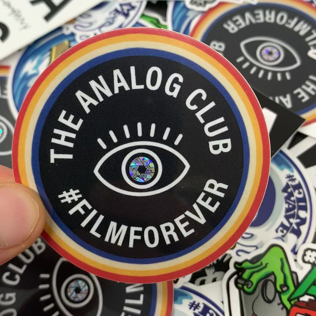 the analog club glitter sticker video