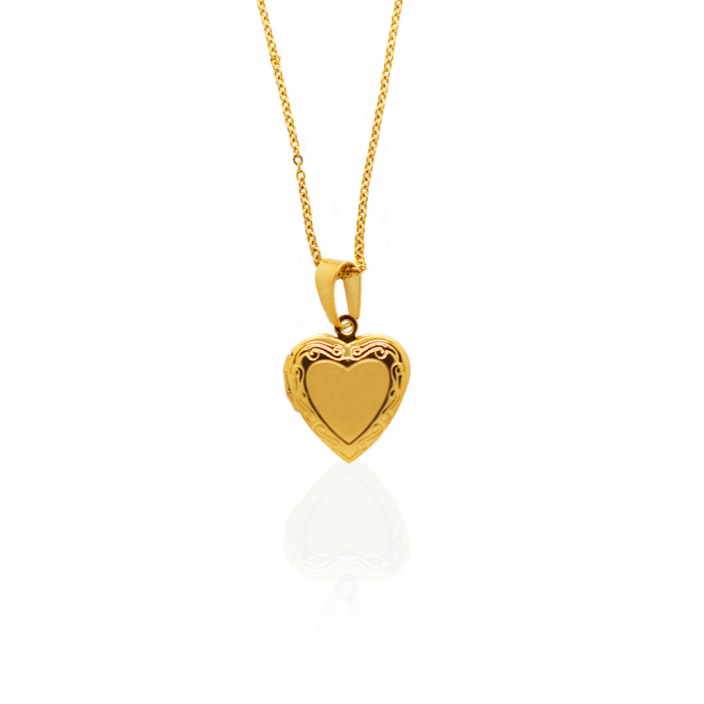 Affordable trendy Gold plated locket necklace