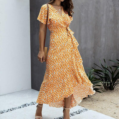 Robe Bohème Coton Orange