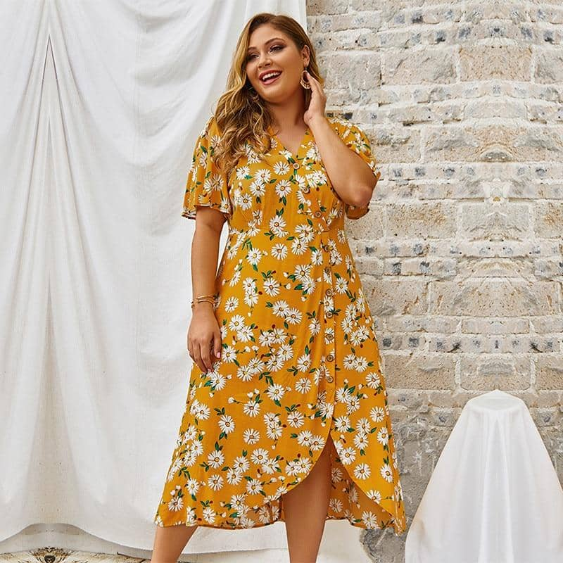 Robe Style Bohème Chic Grande Taille