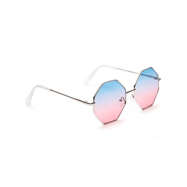 Ladies Brand Designer Hexagon Sunglasses