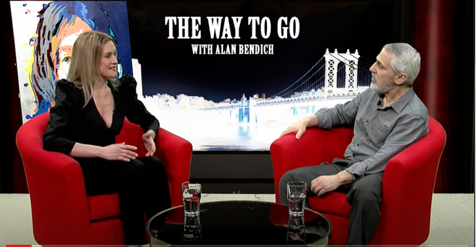 "Oksana Tanasiv is the Special Guest and Alan Bendich is the Host of  ""The Way To Go"". Exclusive Interview."