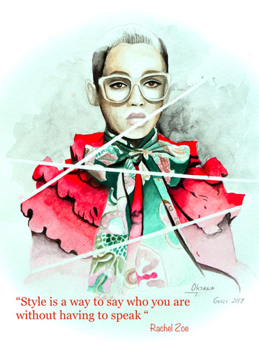 Gucci 3 Fashion Illustration Watercolor Art - OKSI Fine Art