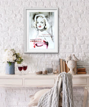 Load image into Gallery viewer, Marilyn Monroe Fashion Illustration Watercolor Art - OKSI Fine Art