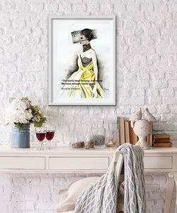 Alexander McQueen Fashion Illustration Watercolor Art - OKSI Fine Art