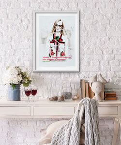 Gucci 2 Fashion Illustration Watercolor Art - OKSI Fine Art