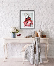 Load image into Gallery viewer, Red Valentino Fashion Illustration Watercolor Art - OKSI Fine Art