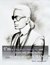Load image into Gallery viewer, Karl Lagerfeld Fashion Illustration Watercolor Art - OKSI Fine Art