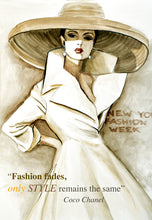Load image into Gallery viewer, Mode Vie Fashion Illustration Watercolor Art - OKSI Fine Art