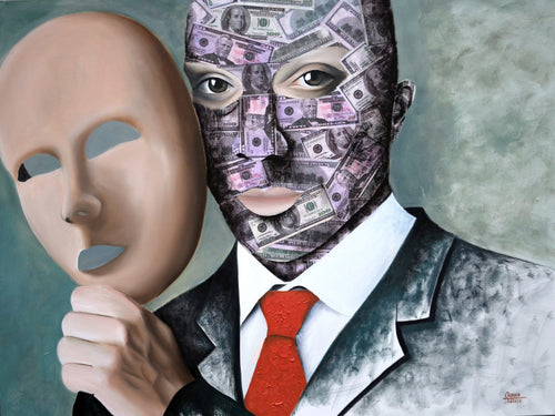 Under Human Mask ART - OKSI Fine Art