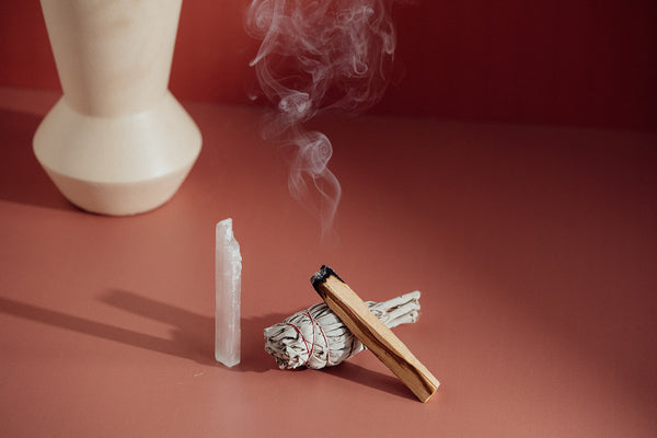 SPACE CLEARING KIT - WHITE SAGE & PALO SANTO