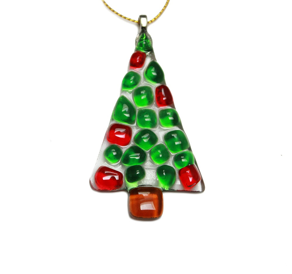 Mosaic glass tree decoration