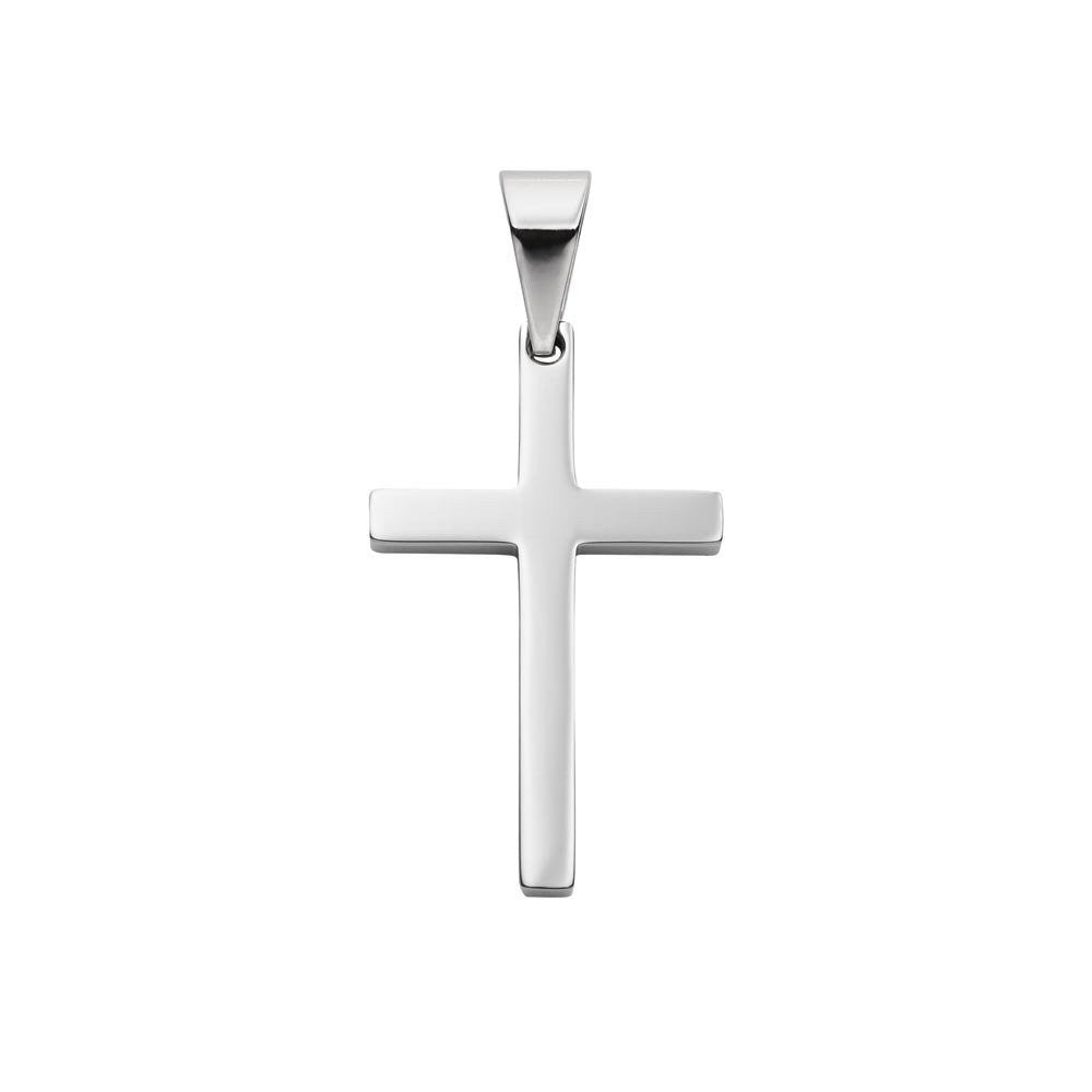 Plain stainless steel cross