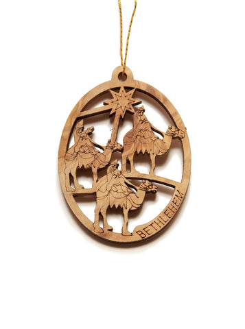 Olive wood 3 kings decoration