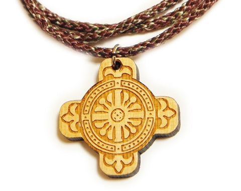 Tile cross on cord