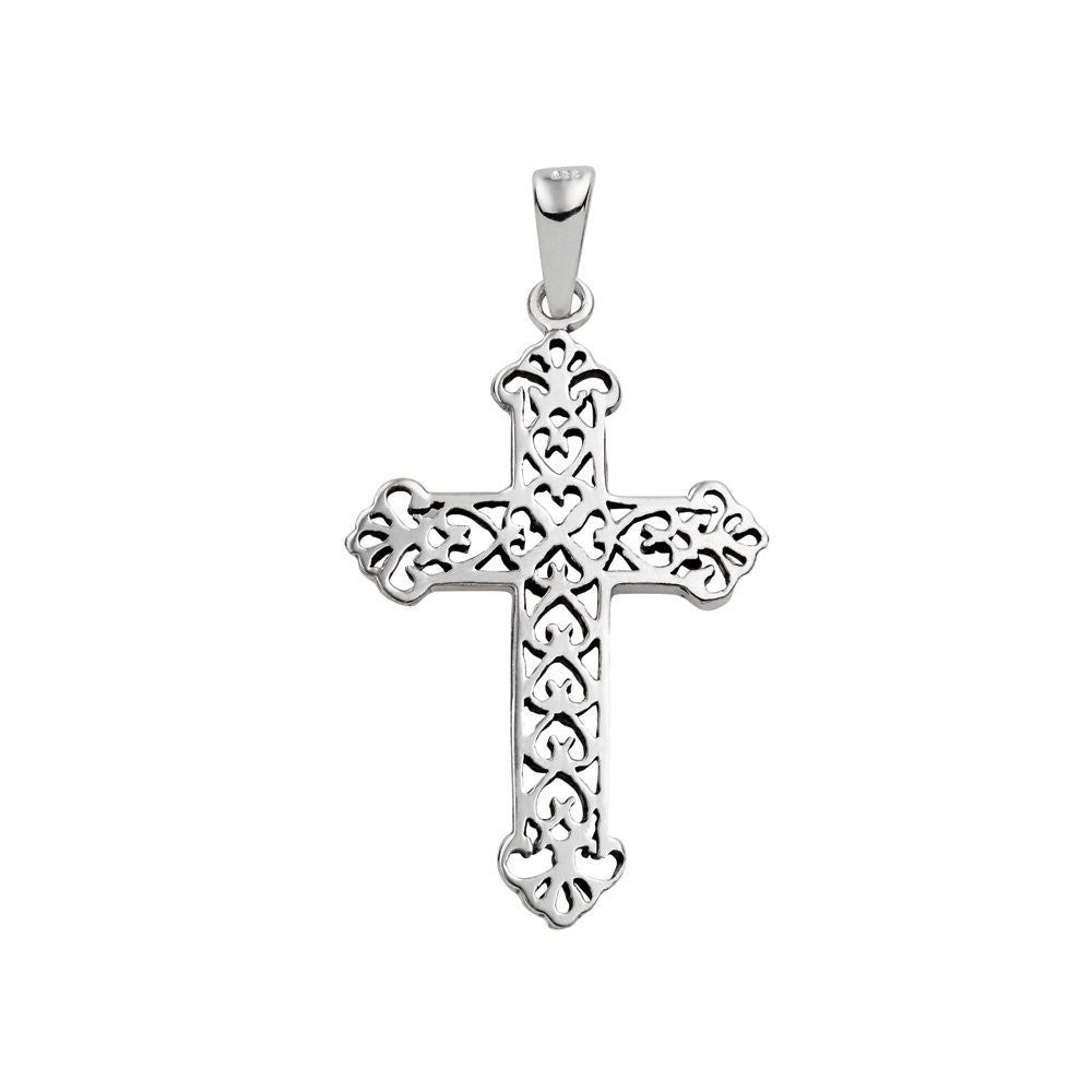 Large filigree cross pendant