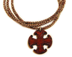 Canterbury cross on cord