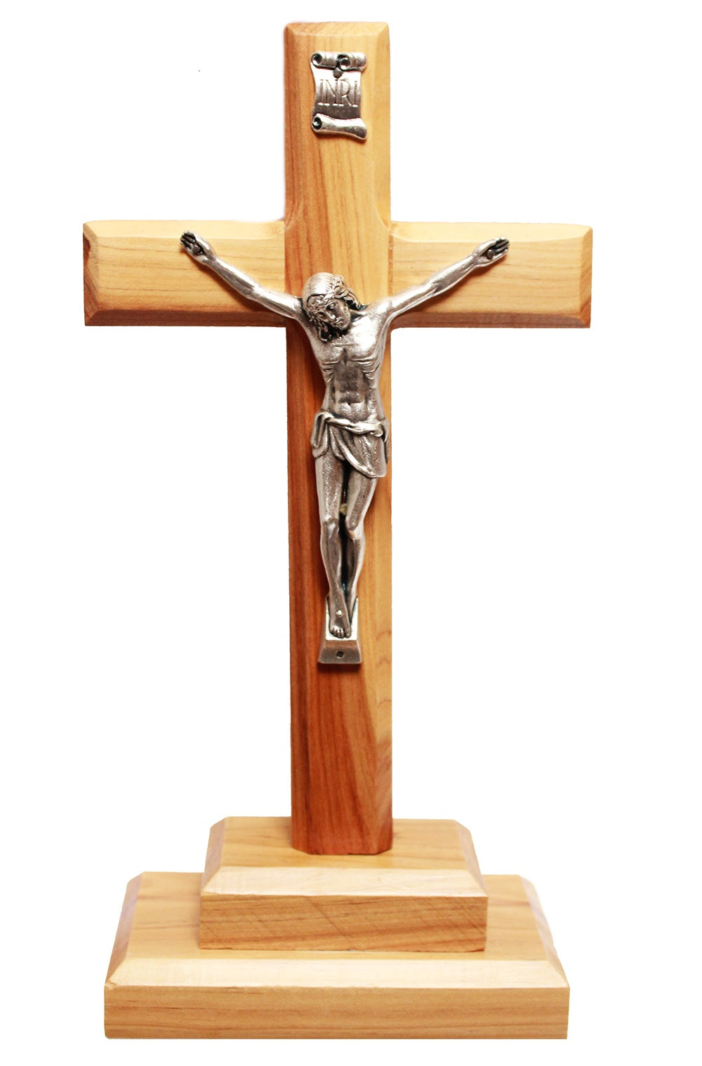 Large plain standing crucifix
