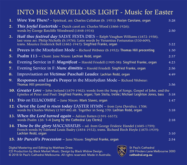 Marvellous Light - Easter CD