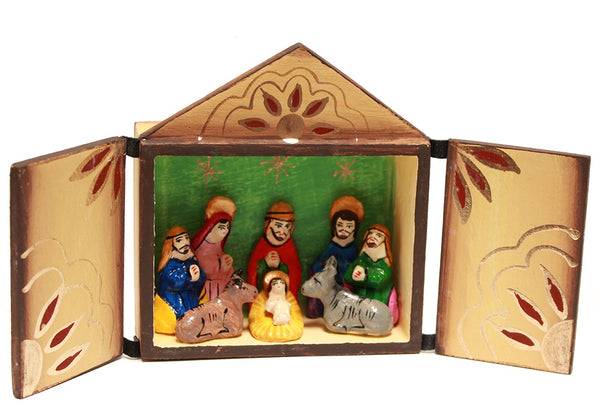 Peruvian box nativity