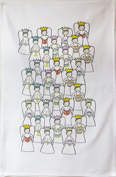 Angel tea towel
