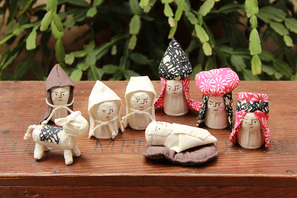 Calico nativity set