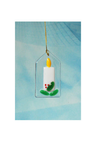 Glass candle decoration