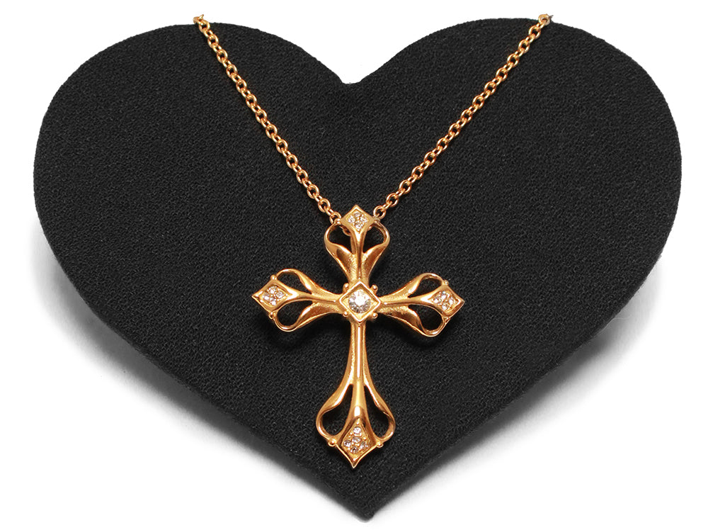 Large fancy gold cross