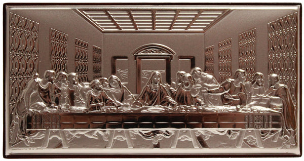 Silver Last Supper plaque