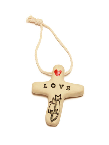 Ceramic LOVE cross