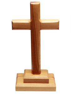 Large plain standing cross