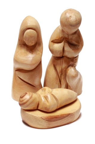 Small olive wood nativity set