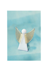 Small standing glass angel