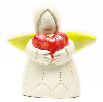 Coloured wing ceramic angel