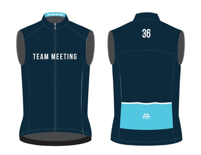 "36th Street Men's Light Weight Wind Vest 2021 ""Team Meeting"" - Classic Cycling"
