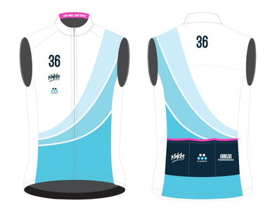 "36th Street Women's Light Weight Wind Vest 2021 ""10th Anniversary"" - Classic Cycling"