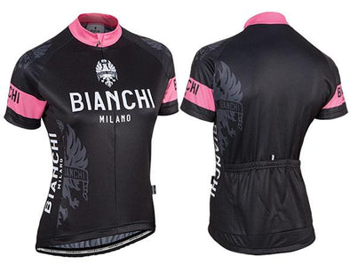 Bianchi Milano Eddi 1 Lady Short Sleeve Jersey - Black - Classic Cycling