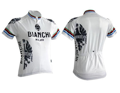 Bianchi Milano Eddi 1 Lady Short Sleeve Jersey- White - Classic Cycling