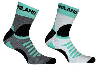 Bianchi Milano Ornica Socks - White - Classic Cycling