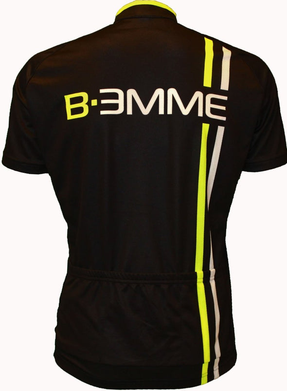 Biemme Item 2 Short Sleeve Jersey - Black-Fluo-White - Classic Cycling