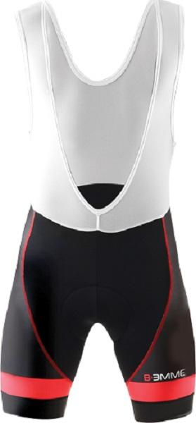 Biemme Moody 14 Bib Shorts - Black-Red - Classic Cycling