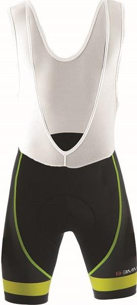 Biemme Moody 14 Bib Shorts - Black- Yellow - Classic Cycling