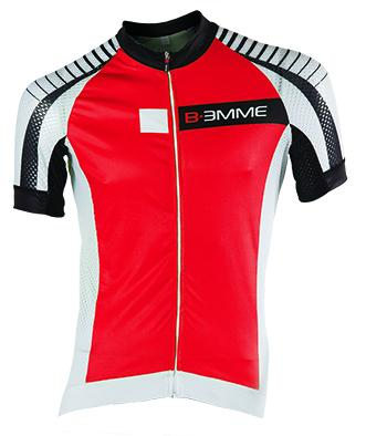 Biemme Moody Short Sleeve Jersey - Red-White-Black - Classic Cycling