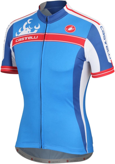 Castelli Autentica Jersey Full Zip Drive Blue - Classic Cycling